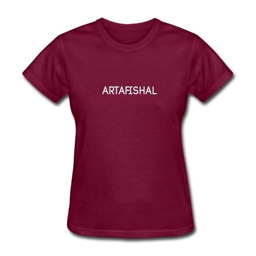Artafishal White - Women's T-Shirt