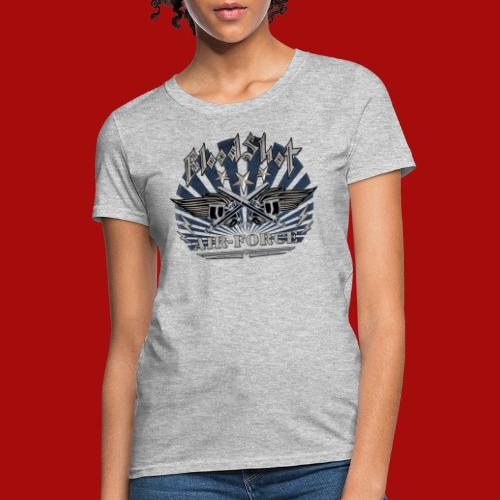 BloodShot Air Force with black - Women's T-Shirt
