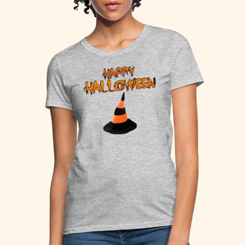 HAPPY HALLOWEEN WITCH HAT TEE - Women's T-Shirt