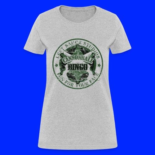 Vintage Cannonball Bingo Badge Dark Green - Women's T-Shirt