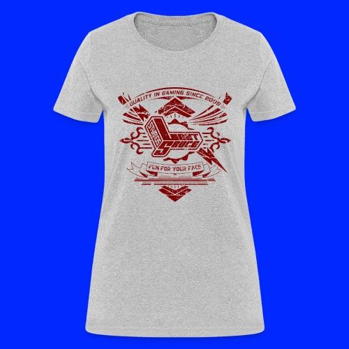 Vintage Leet Sauce Studios Crest Red - Women's T-Shirt