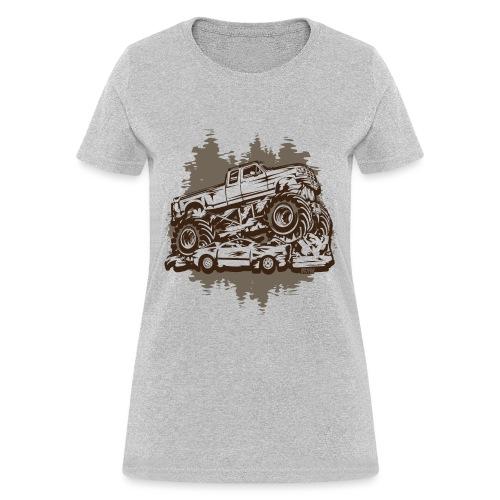 Monster Truck Grungy - Women's T-Shirt