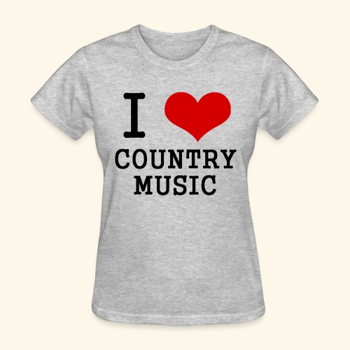 I love country music - Women's T-Shirt
