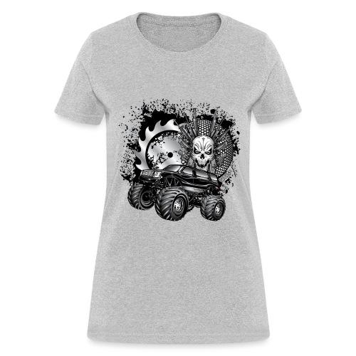 Metallic Monster Truck - Women's T-Shirt