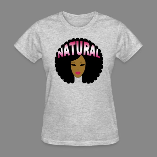 Natural Afro (Pink) - Women's T-Shirt