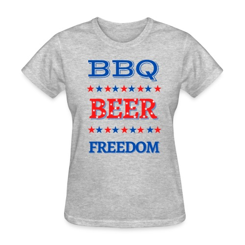 BBQ BEER FREEDOM - Women's T-Shirt