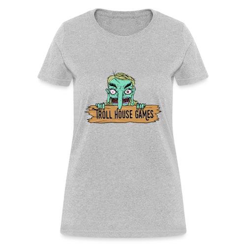 Troll House Games Cartoon Logo - Women's T-Shirt