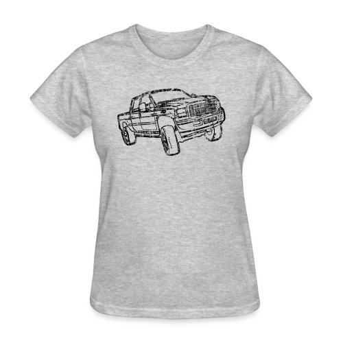 Ford Truck F250 Distressed - Women's T-Shirt