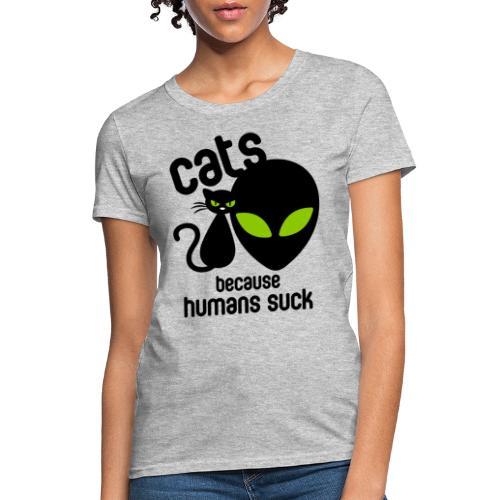 Cat and alien design - Women's T-Shirt