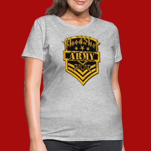BloodShot ARMYLogo Gold /Black - Women's T-Shirt