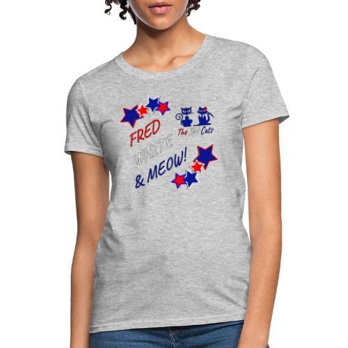 FRED WHITE BLUE SLOTCATS - Women's T-Shirt