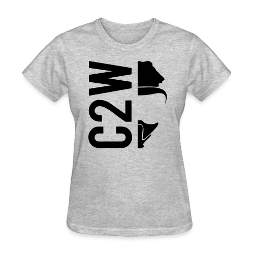 C2W Split Logo - Black - Premium Tee - Women's T-Shirt