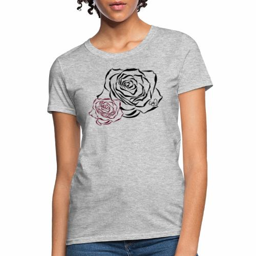 Double Rose - Women's T-Shirt