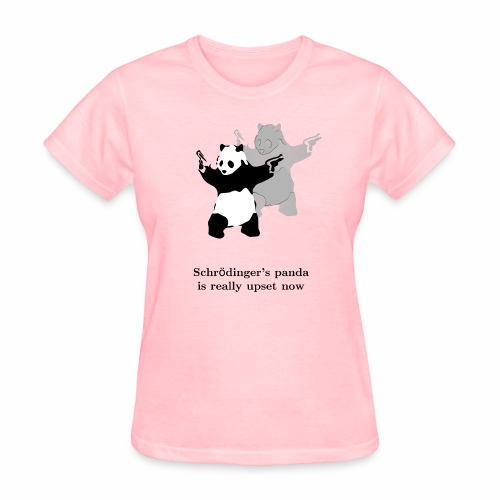 Schrödinger's panda is really upset now - Women's T-Shirt