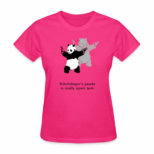 Schrödinger's panda is really upset now - Women's T-Shirt