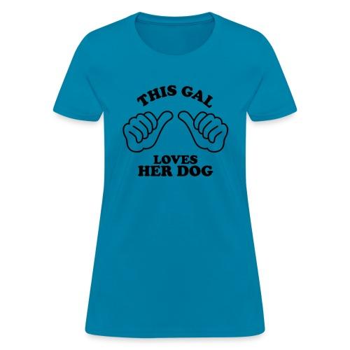 Two Thumbs Gal Dog - Women's T-Shirt