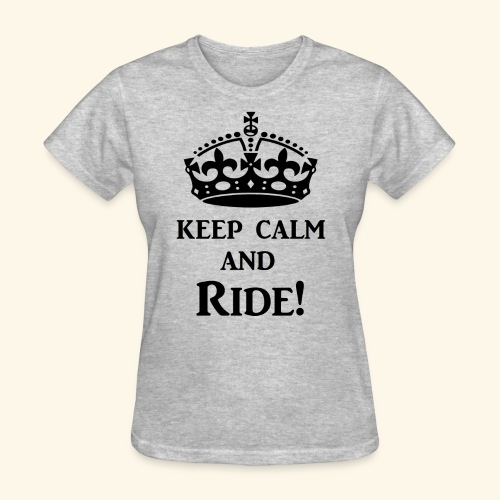 keep calm ride blk - Women's T-Shirt