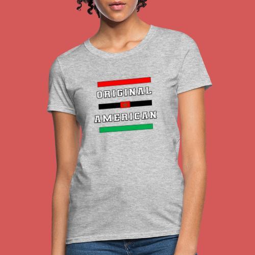 Original American Bars Moorish American Flag - Women's T-Shirt