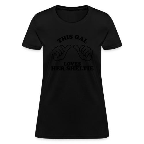 Two Thumbs Gal Sheltie - Women's T-Shirt