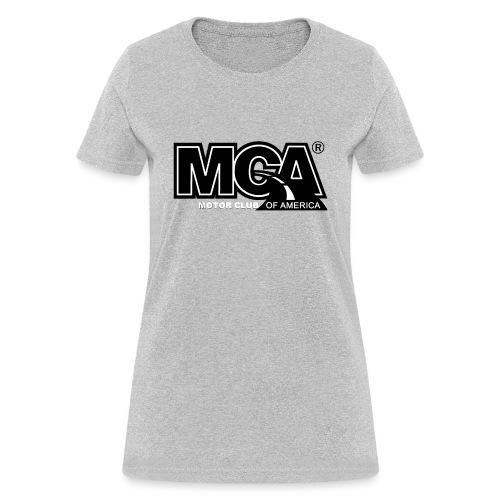 MCA Logo WBG Transparent BLACK TITLEfw fw png - Women's T-Shirt
