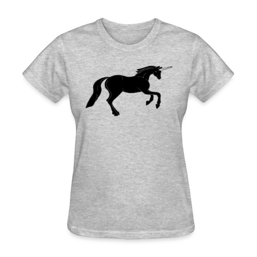 unicorn black - Women's T-Shirt