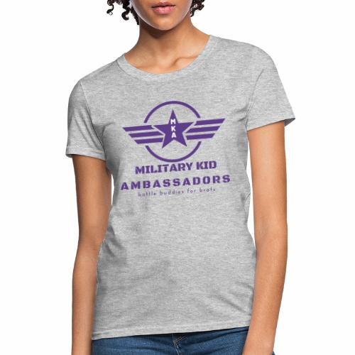 Military Kid Ambassador Purple Logo - Women's T-Shirt
