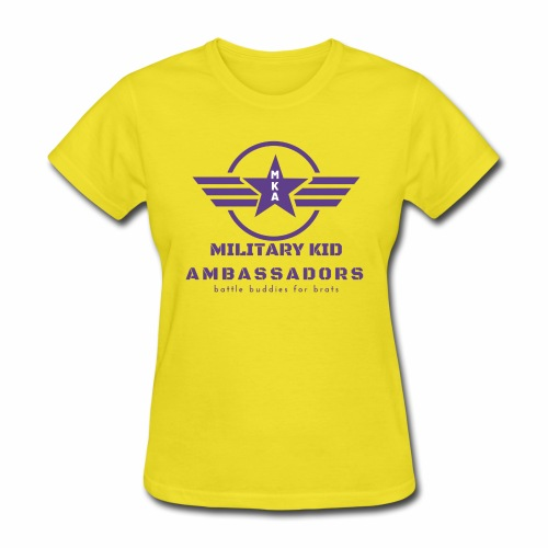 Military Kid Ambassador Purple Logo - Women's T-Shirt