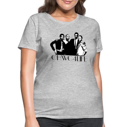 ohwc text blk & Wh Silhouette - Women's T-Shirt