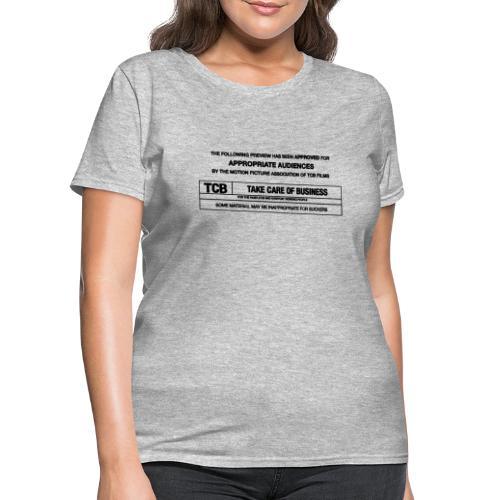 TCB Films Disclamer - Women's T-Shirt