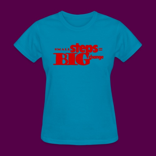 small steps red - Women's T-Shirt