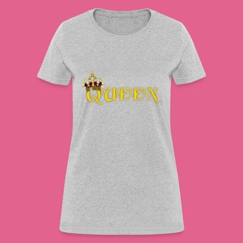 GOLD QUEEN CROWN GEMS AND DIAMONDS - Women's T-Shirt