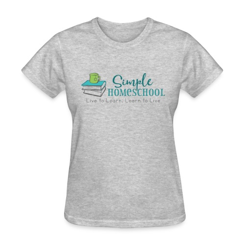 Simple Homeschool Logo with Motto - Women's T-Shirt