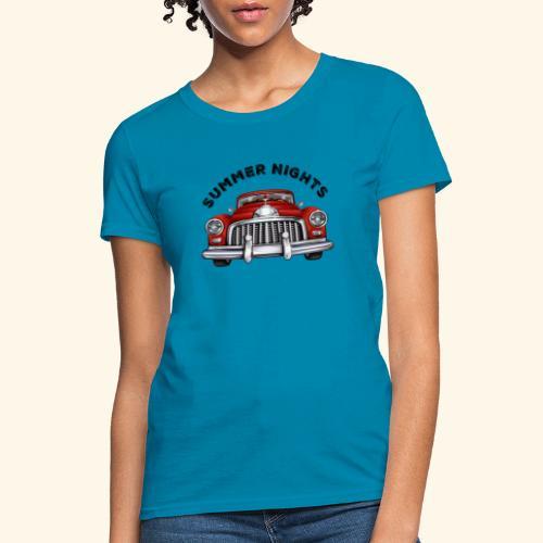 car show summer nights Design - Women's T-Shirt