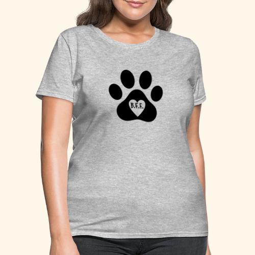 Dog Paw B.F.F. Design - Women's T-Shirt