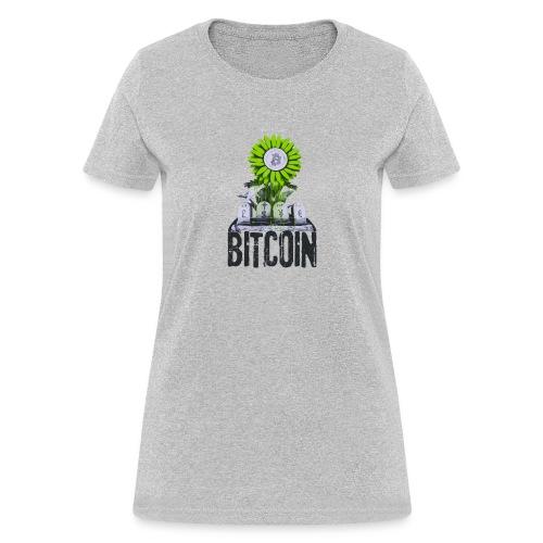 Bitcoin Banksy Street Art Tshirt - Women's T-Shirt