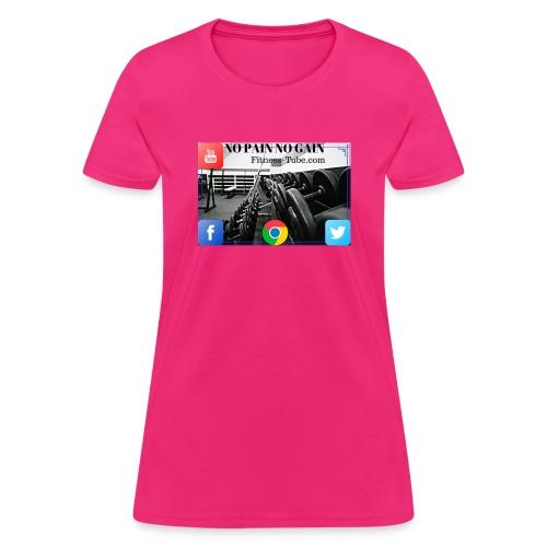 gym no pain no gain 1 - Women's T-Shirt