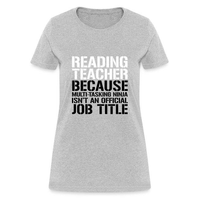 Reading Teacher Ninja Funny Teacher T-shirt