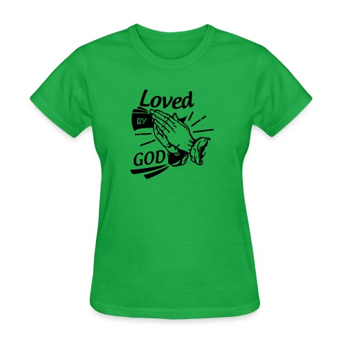 Loved By God (Black Letters) - Women's T-Shirt