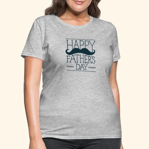 Fathers Day Mustache Design - Women's T-Shirt