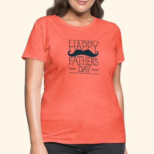Fathers Day Mustache Design - Women's T-Shirt