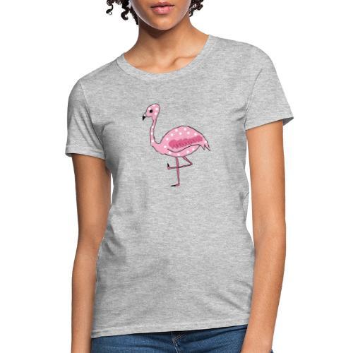 Polka Dotted Flamingo - Women's T-Shirt