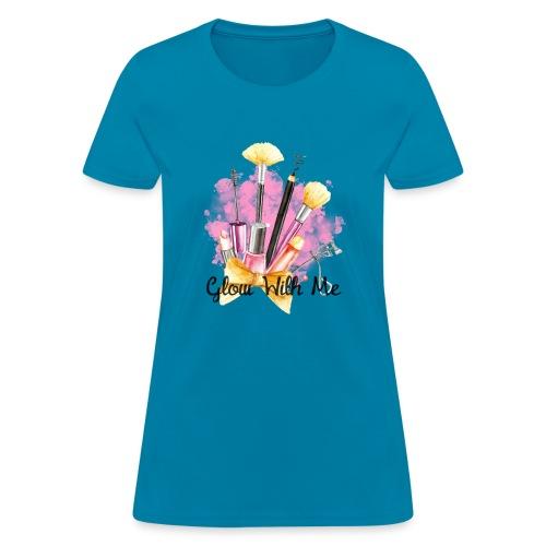 Glow With Me Makeup Logo - Women's T-Shirt