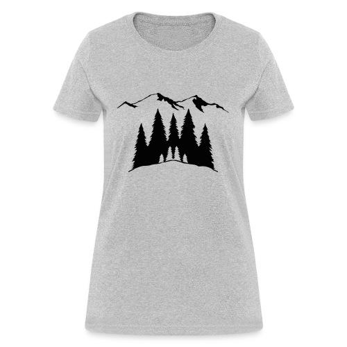 Mountains Trees - Women's T-Shirt
