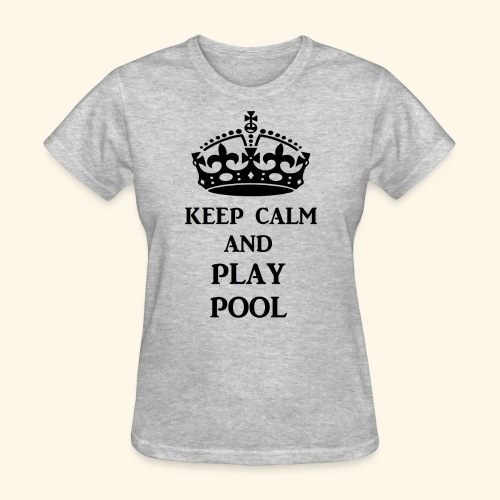 keep calm play pool blk - Women's T-Shirt
