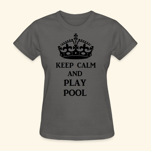keep calm play pool blk - Women's T-Shirt