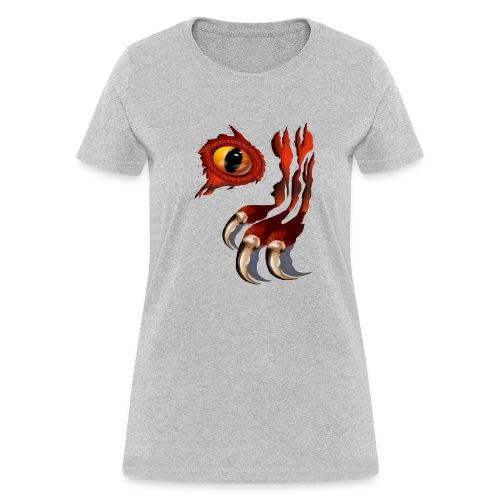 Red Dragon Hiding - Women's T-Shirt