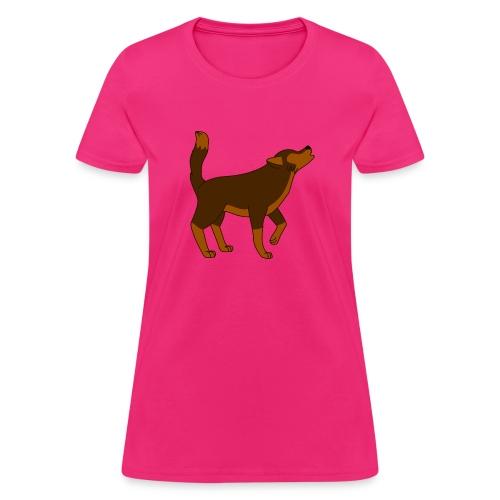 KR ASMR Howling Wolf - Women's T-Shirt