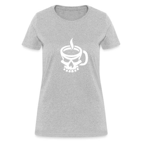 Caffeinated Coffee Skull - Women's T-Shirt