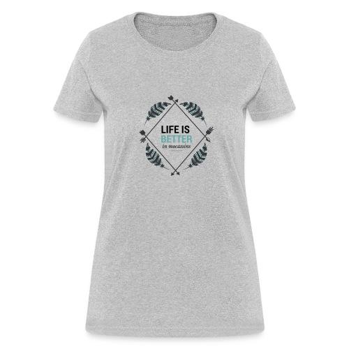 Life is Better in Mocassins - Women's T-Shirt
