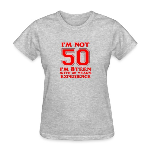 8teen red not 50 - Women's T-Shirt